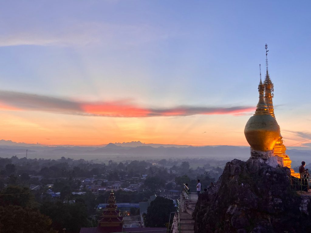 Loikaw, der perfekte Sunset Viewpoint