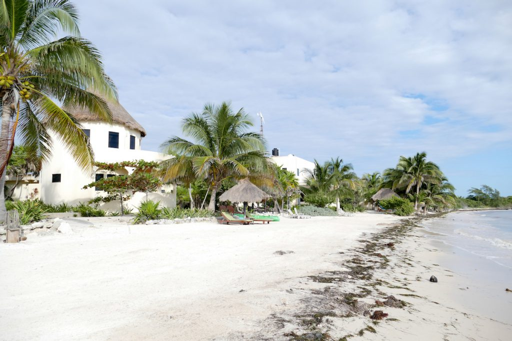 Mahahual, unser Strandparadies fuer 2 Tage