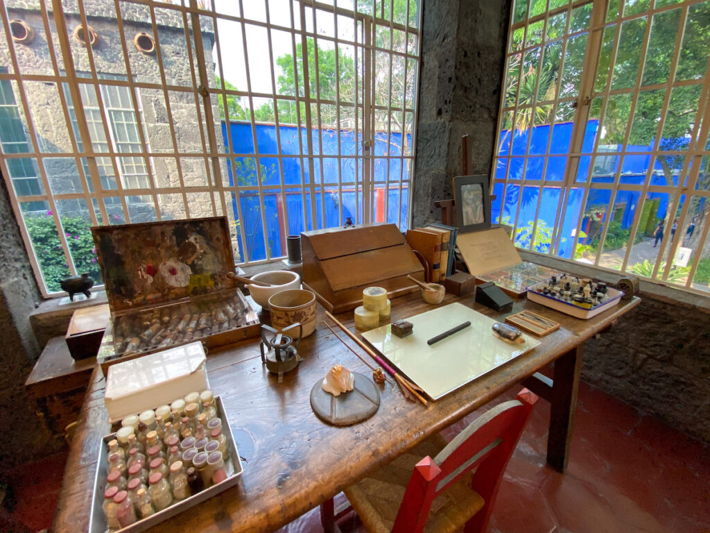 Mexico City, Museo Frida Kahlo, ihr Atelier