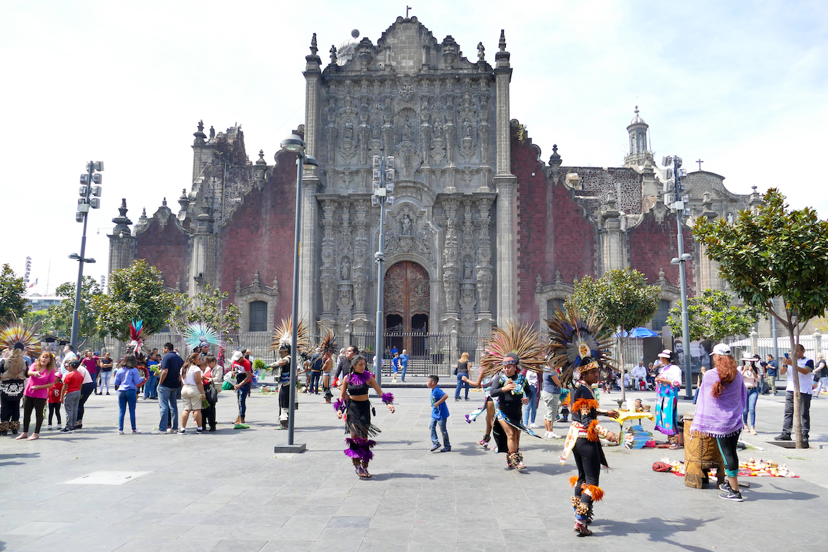 Mexico City, Zocalo, traditionelle, mexikanische Taenze