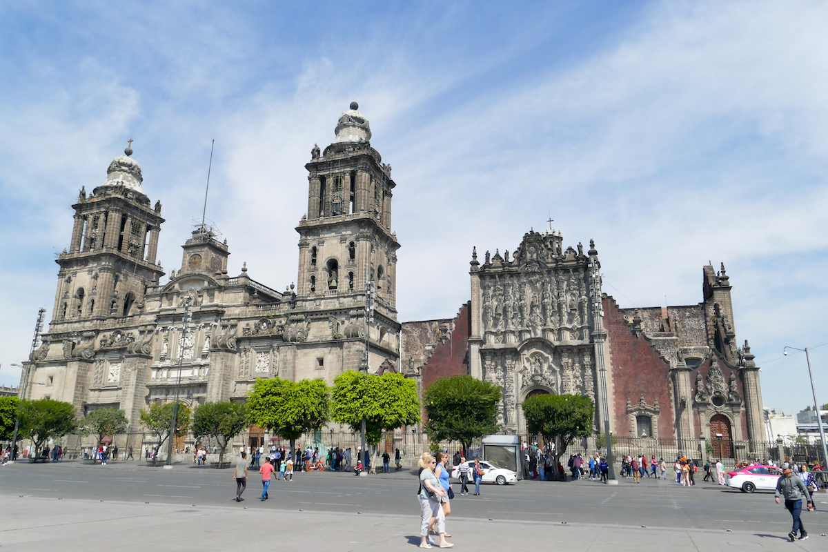 Mexico City, Zocalo und Kathedrale