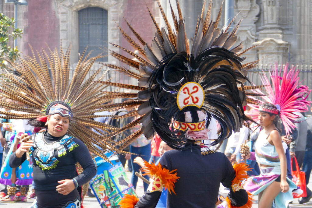 Mexico, Zocalo, mexikanischer Tanz