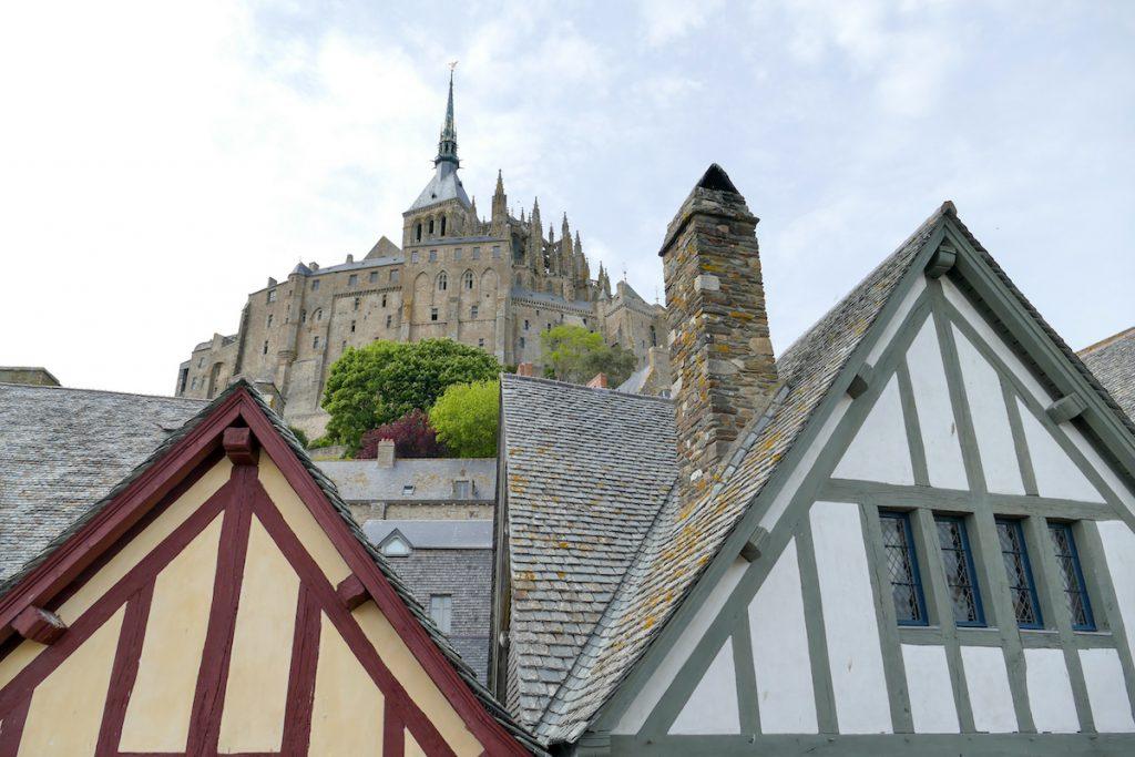 Mont Saint Michel, Blick von der Stadtmauer