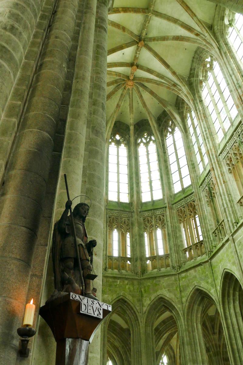 Mont Saint Michel, im Inneren der Abtei
