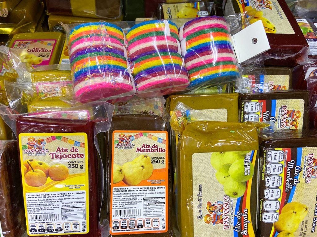 Morelia, Mercado de Dulces, Spezialitaeten der Region