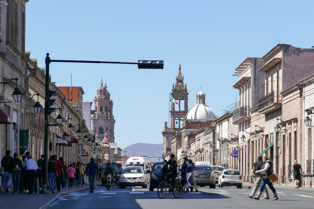 Morelia, Regierungspalast und Kathedrale