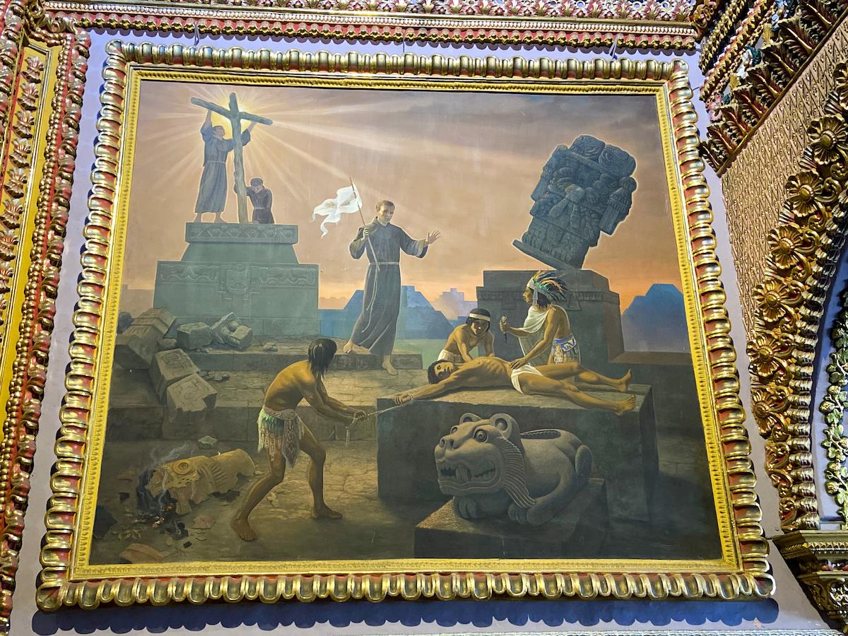 Morelia, Santuario de la Virgen de Guadalupe, bedrueckende Gemaelde