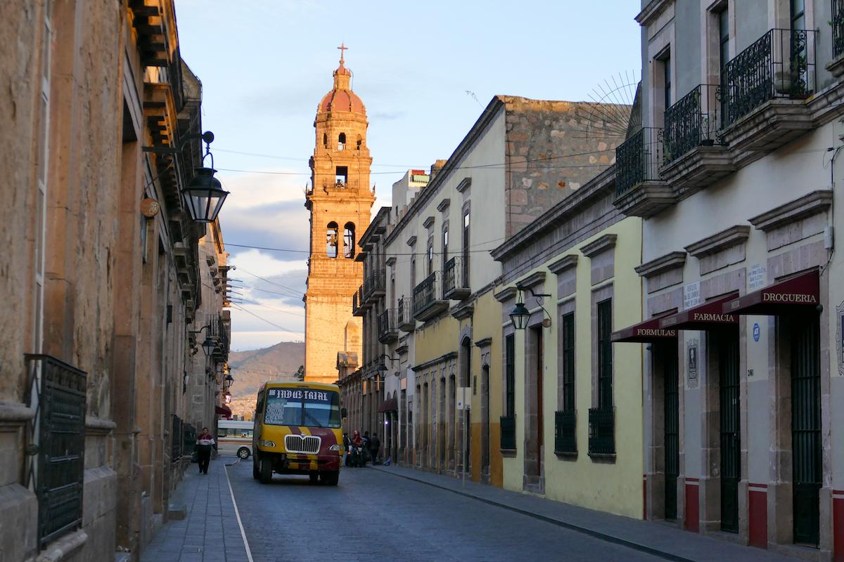 Morelia, im wunderschoenen historischen Zentrum