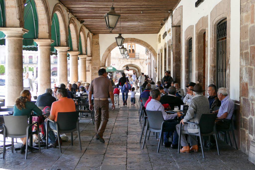 Morelia, in der Altstadt geht es sehr lebendig zu