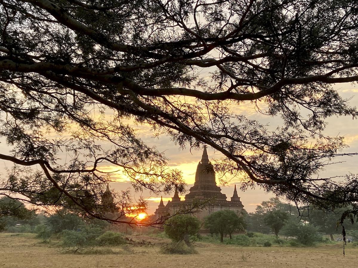 Myanmar, Bagan, Sonnenaufgang