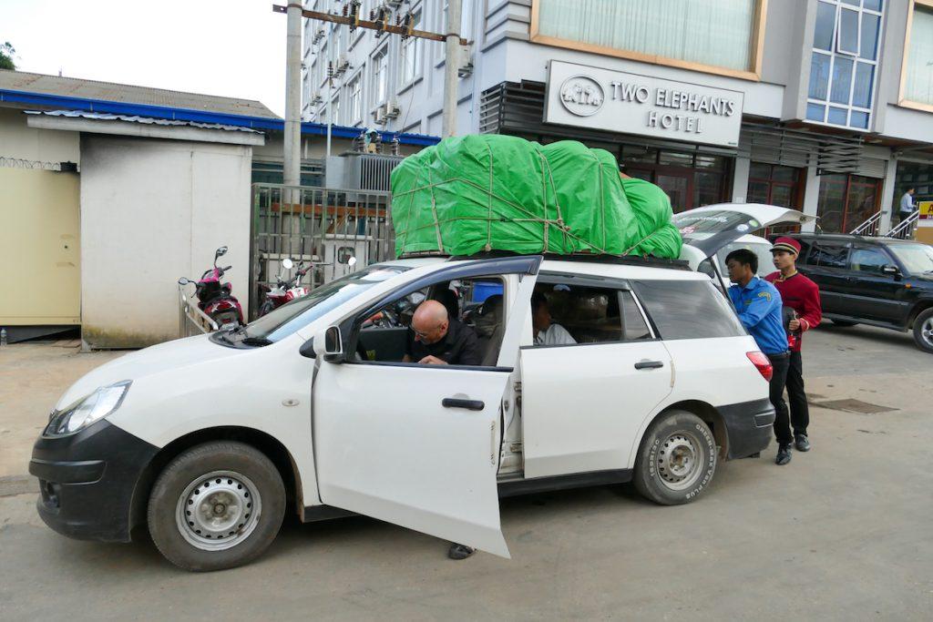 Myanmar, Lashio, im Shared Taxi nach Hsipaw