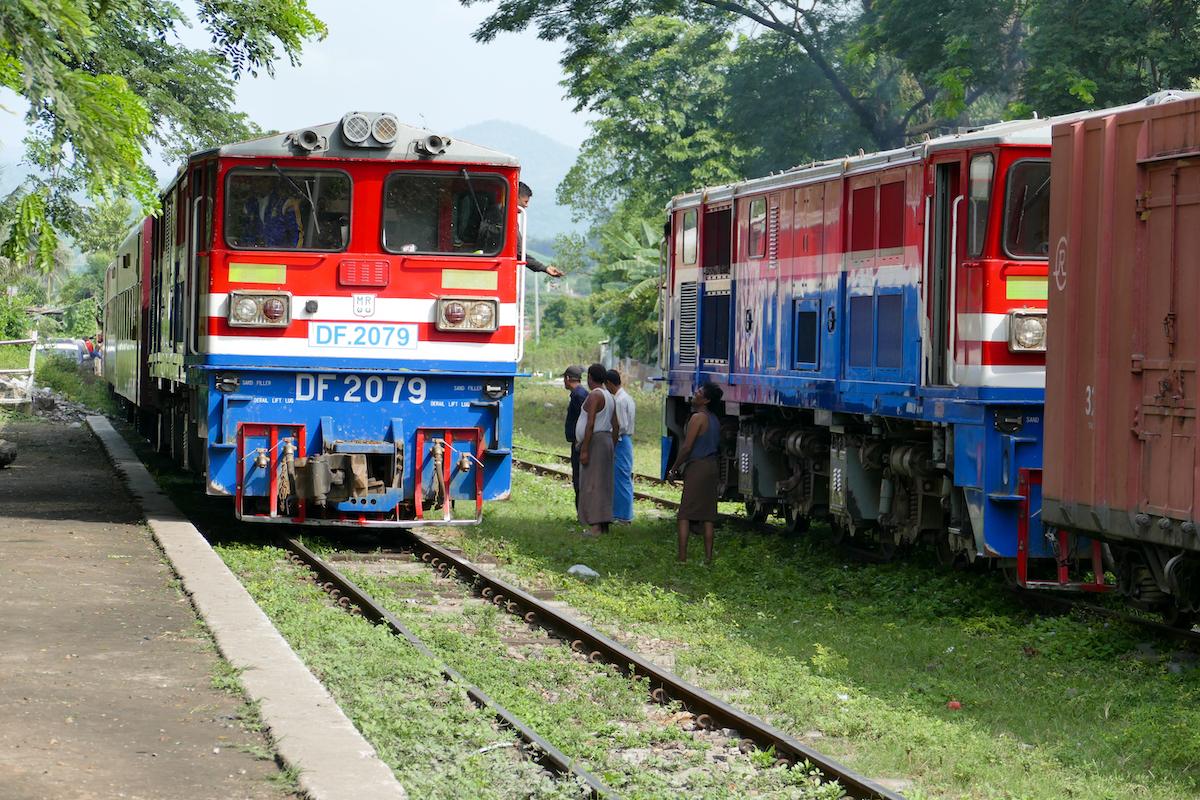 Myanmar, Pyin U Lwin, mit dem Zug zum Gokteik Viadukt