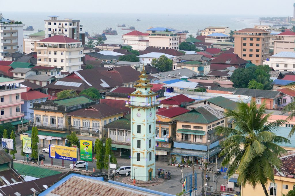 Myeik, Theindawgyi Pagode, Blick auf Myeik