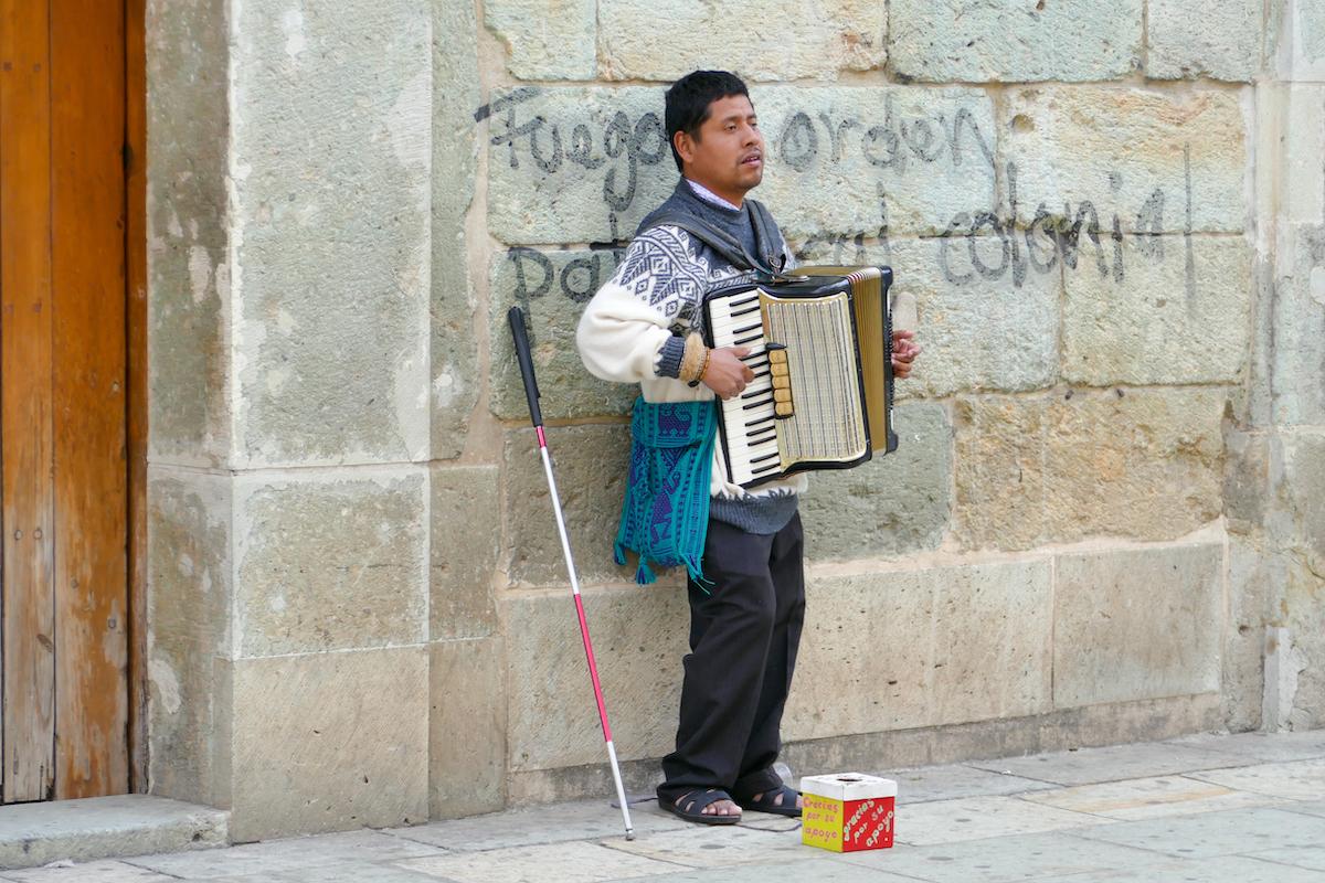 Oaxaca, Altstadt, die Armut ist sehr praesent