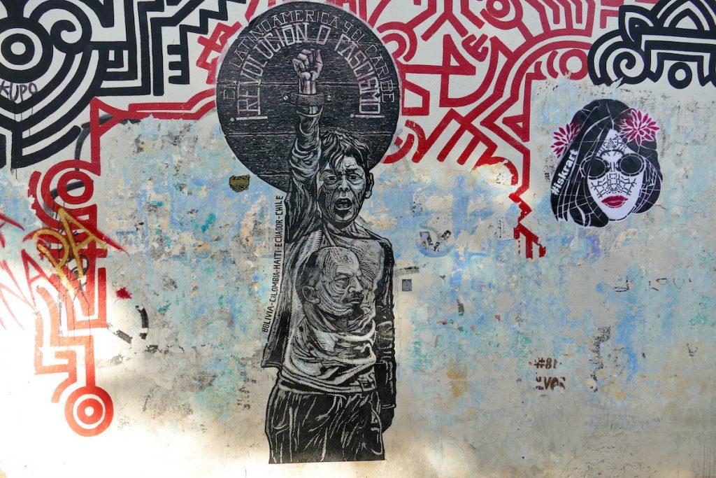 Oaxaca, Street Art, oft schockierend