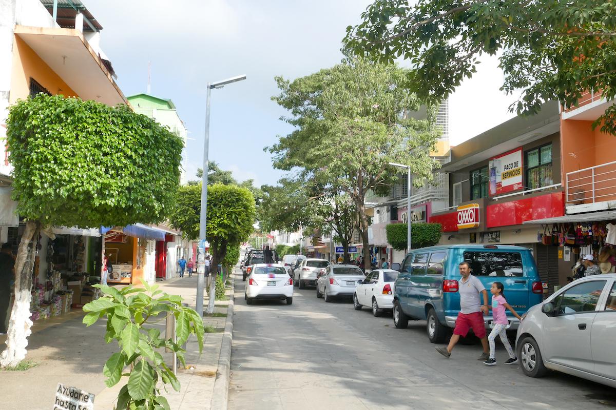 Palenque Stadt, die Haupteinkaufsstrasse