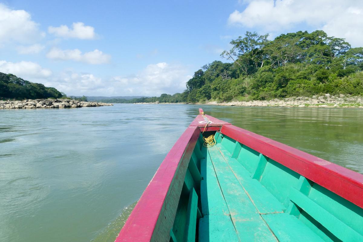 Palenque, Yaxchilan, Fahrt auf dem Uzumacinta