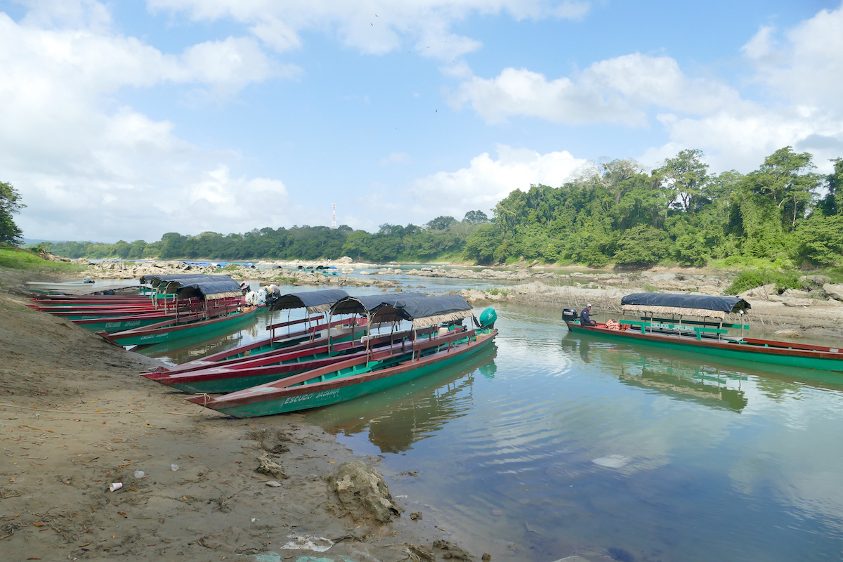 Palenque, Yaxchilan, Frontera Corozal Bootsanleger