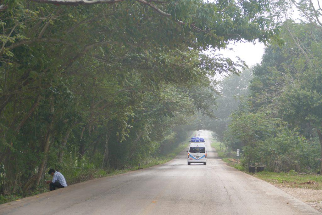 Palenque, Yaxchilan, auf der Carretera Fronteriza