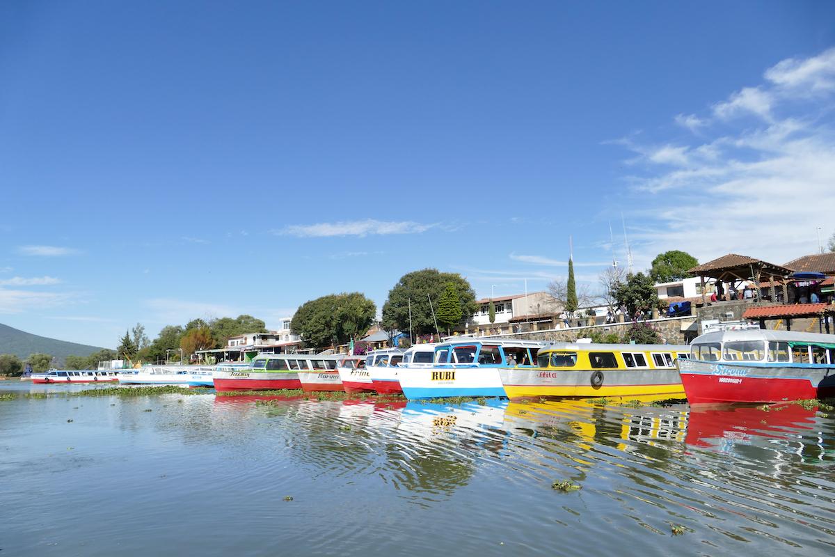 Patzcuaro Lake, Bootsanleger zur Isla Janitzio