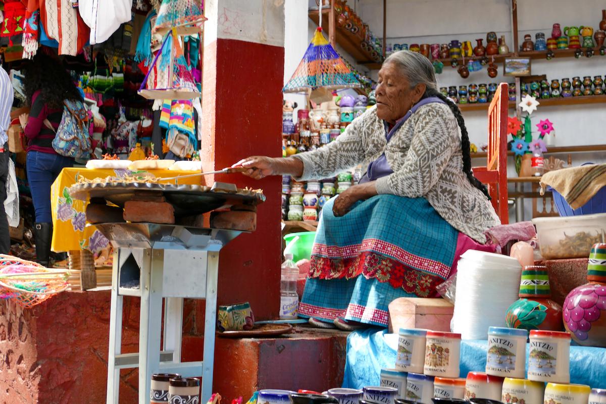 Patzcuaro-Lake, Souvenirs und Selbstgebrutzeltes fuer Touristen