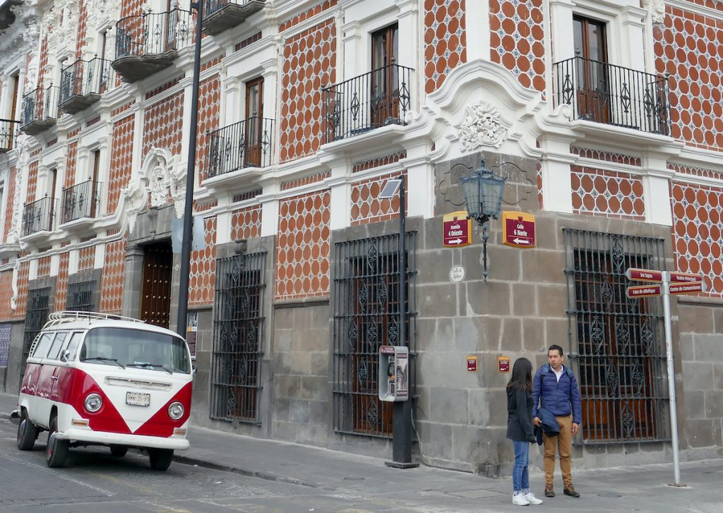 Puebla, Casa Alfenique, eine besonders schoene Fassade