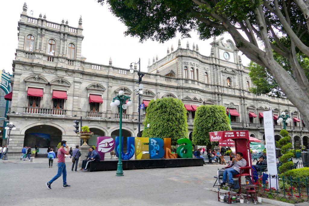 Puebla, Rathaus und Zocalo