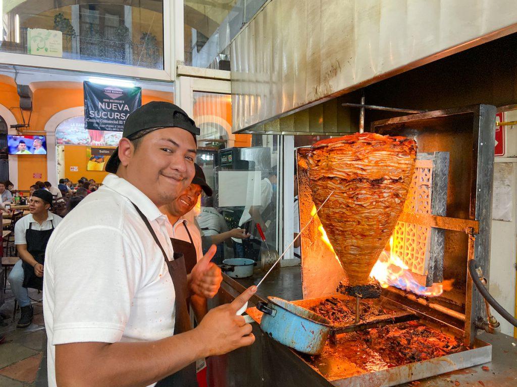 Puebla, Taco al Pastor im Las Ranas