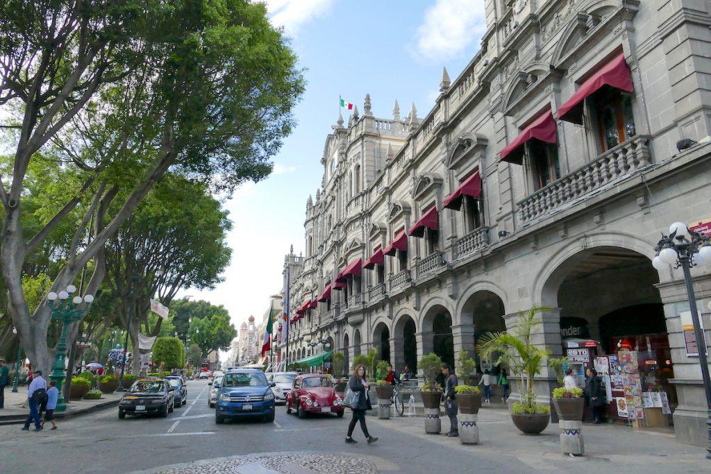Puebla, Zocalo, Avenida de la Reforma