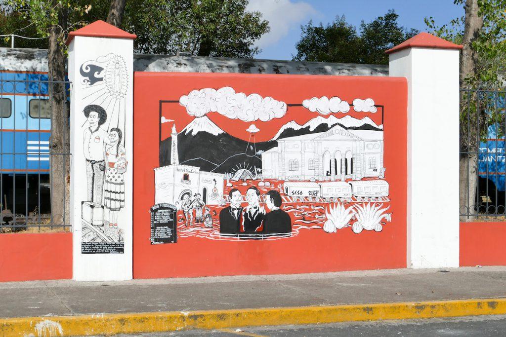 Puebla, am Bahnhof
