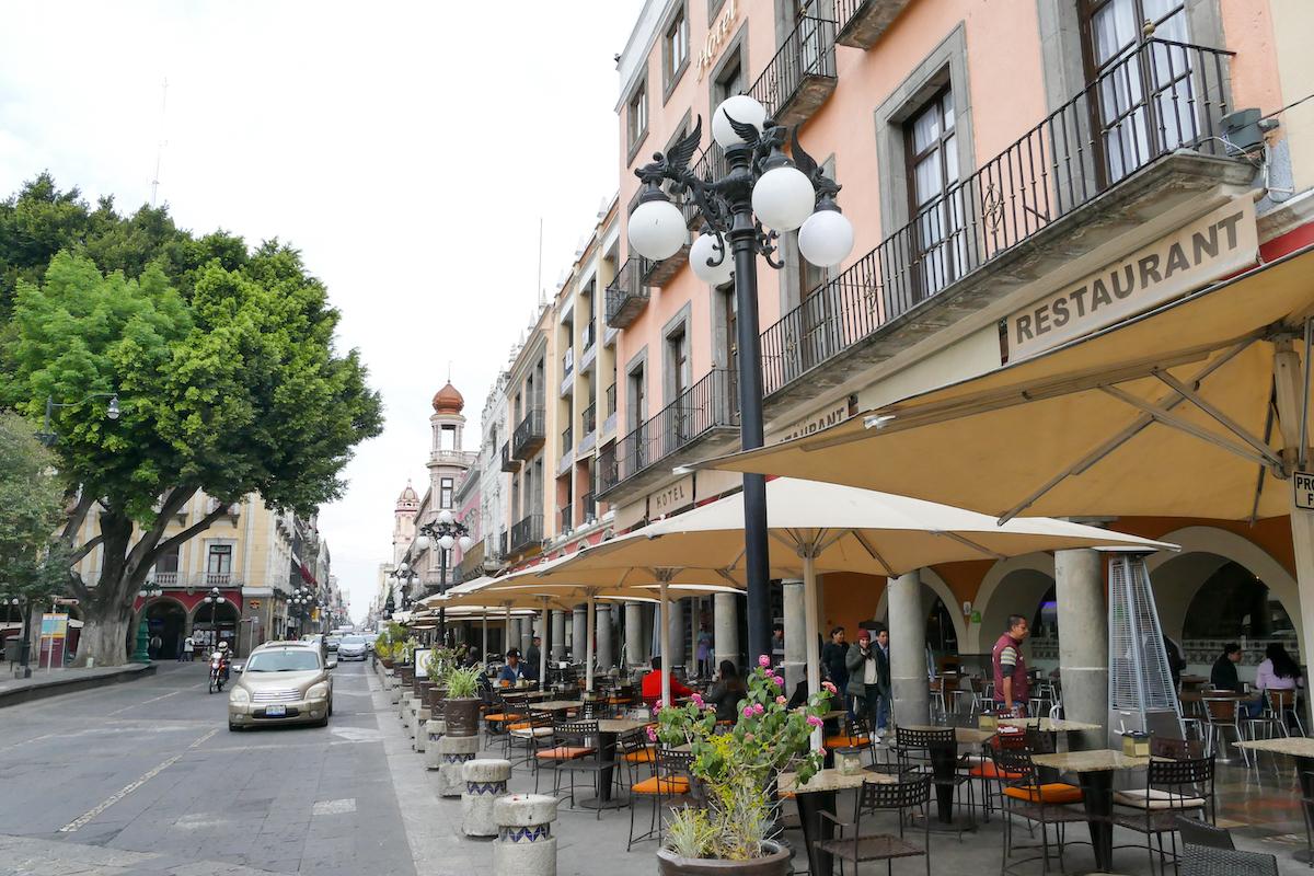 Puebla, tolle Adresse direkt am Zocalo