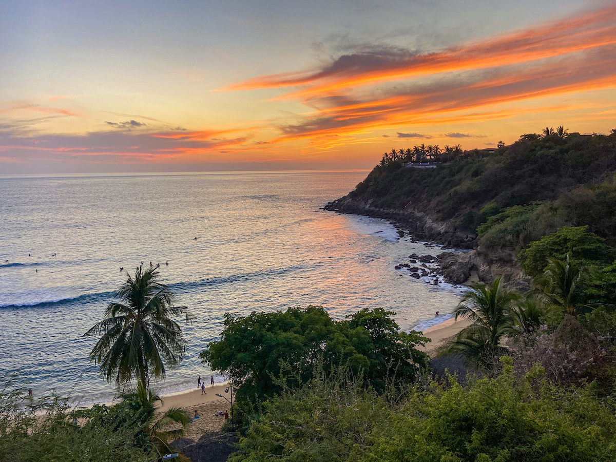 Puerto Escondido, Carrizalillo zum Sonnenuntergang