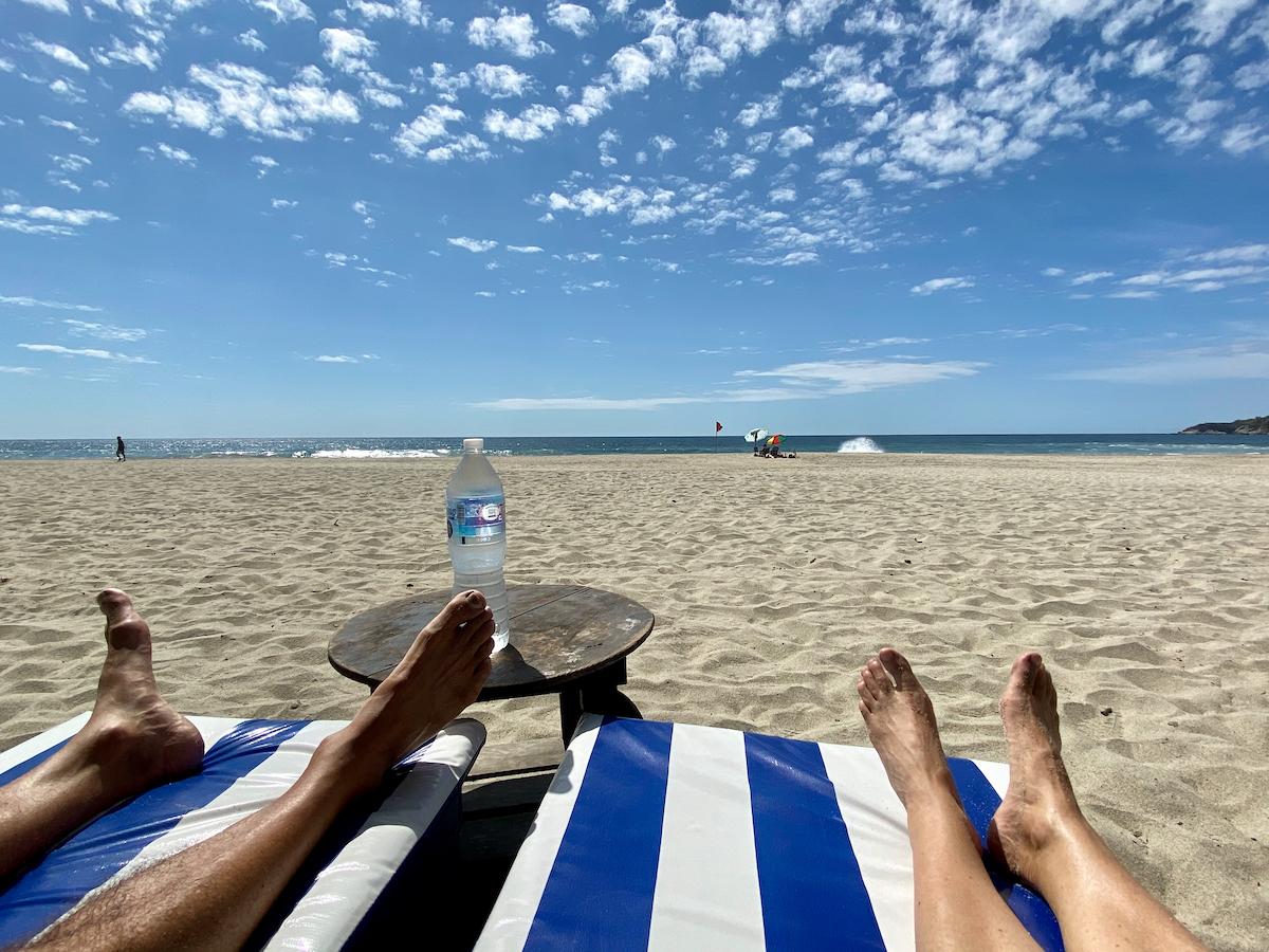 Puerto Escondido, Entspannung am Strand von Zicatela