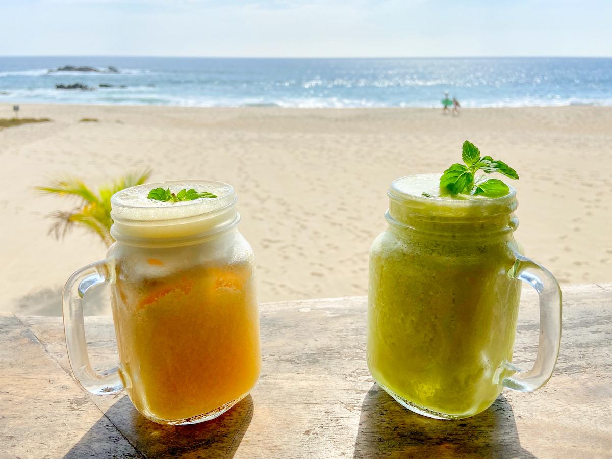 Puerto Escondido, Playa Bacocho, hier laesst es sich extrem gut aushalten
