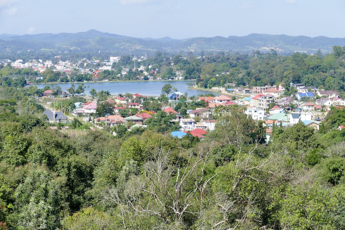 Pyin Oo Lwin, National Kandawgyi Botanical Gardens, Toller Blick vom Aussichtsturm