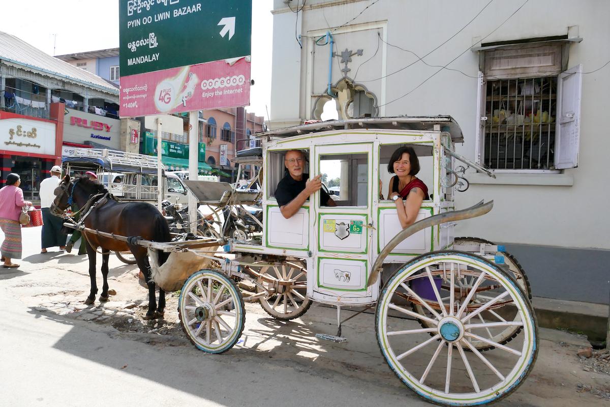 Pyin Oo Lwin, Sightseeing per Pferdekutsche