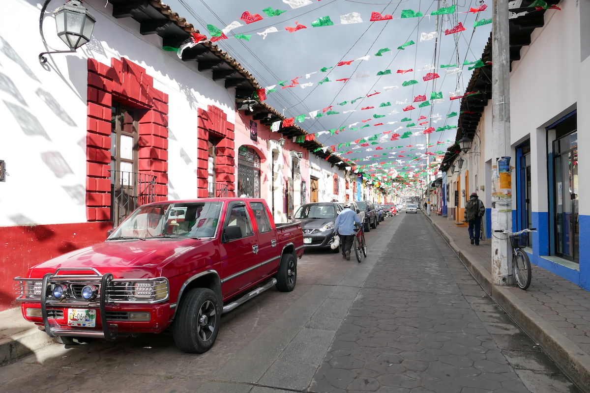 San Cristobal, das Stadtbild ist bunt und vielschichtig