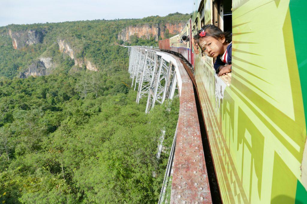 Shan State, Gokteik Viadukt, beeindruckend, nicht nur fuer Eisenbahnfans