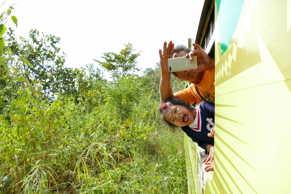 Shan State, Gokteik Viadukt, die Fahrt war ein grosser Spass fuer uns