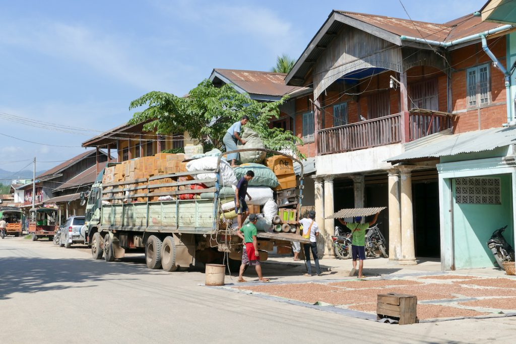 Shan State, Hsipaw, alte Handelshaeuser