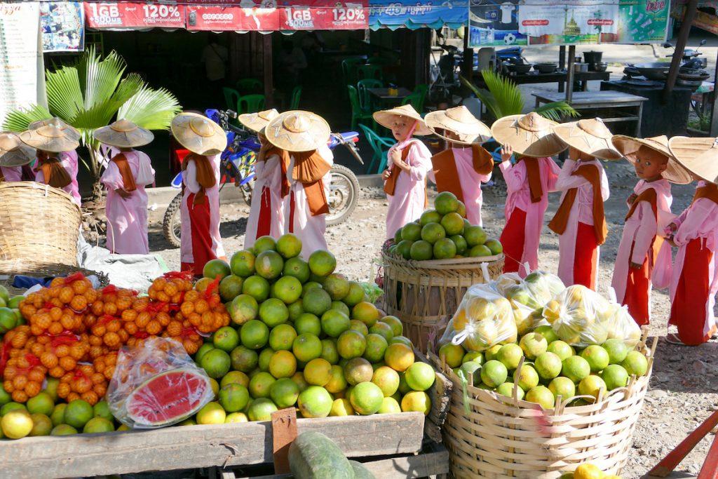 Shan State, Hsipaw, auf dem Morgenmarkt