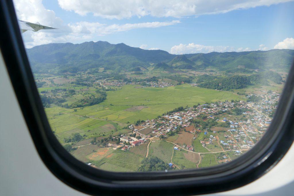 Shan State, Lashio, Anflug auf Lashio