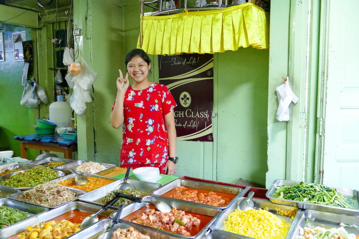 Shan State, Lashio, die Freundlichkeit ist allgegenwaertig
