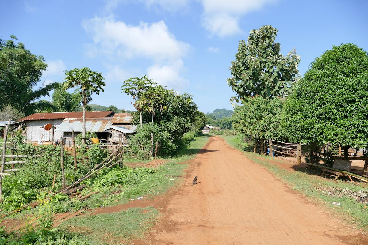 Shan State, Trekking, auf dem Weg von Oomu nach Man Loi