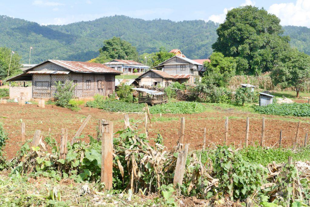 Shan State, Trekking, das Dorf Oomu