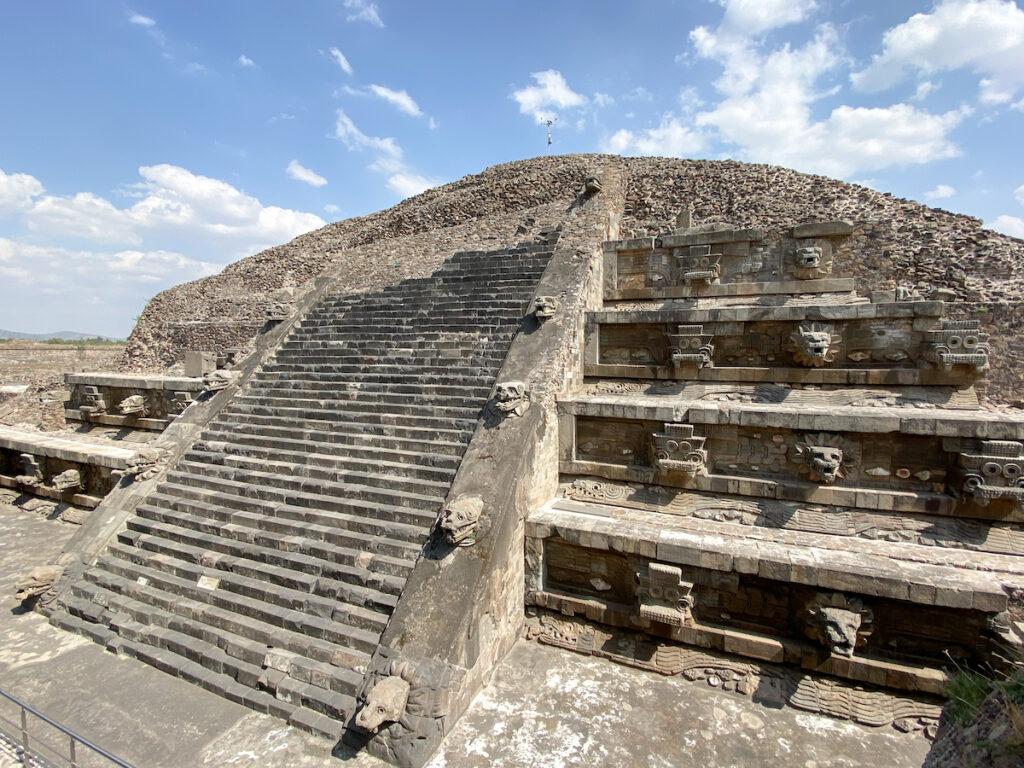 Teotihuacan, Quetzalcoatl Pyramide, Tempel der gefiederten Schlange