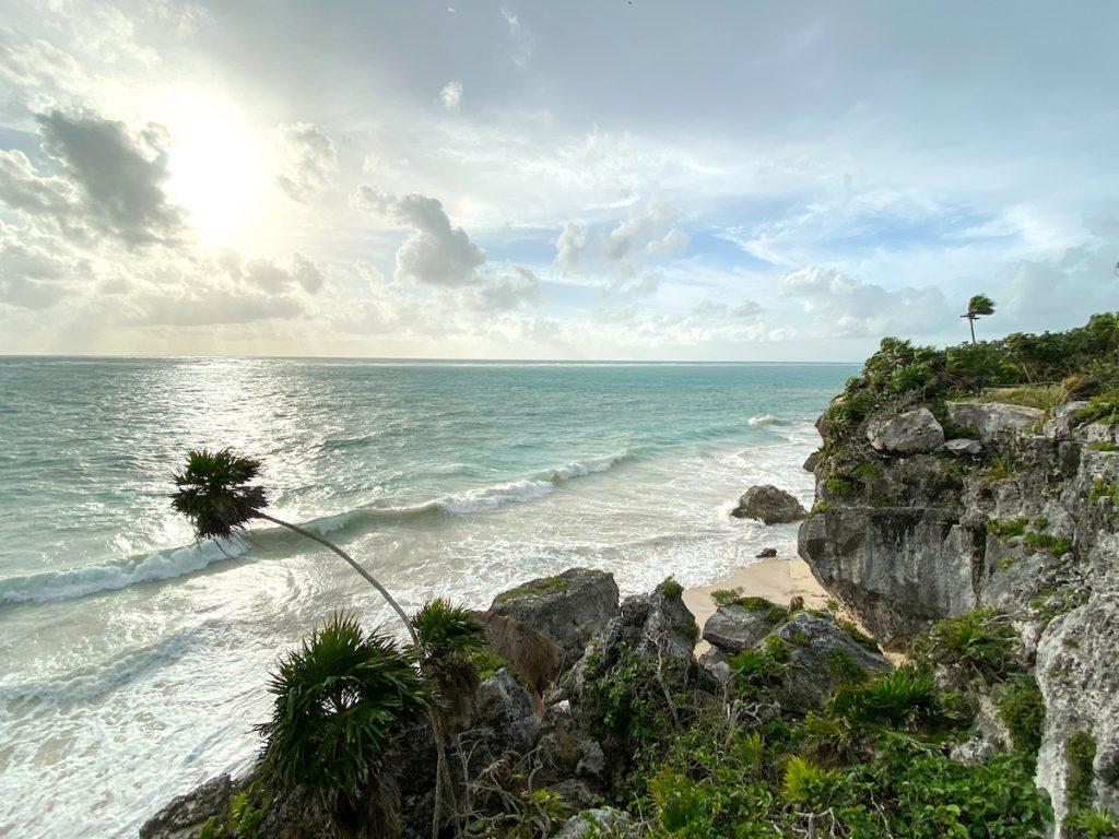 Tulum, die Lage dieser Maya-Staette ist unfassbar schoen