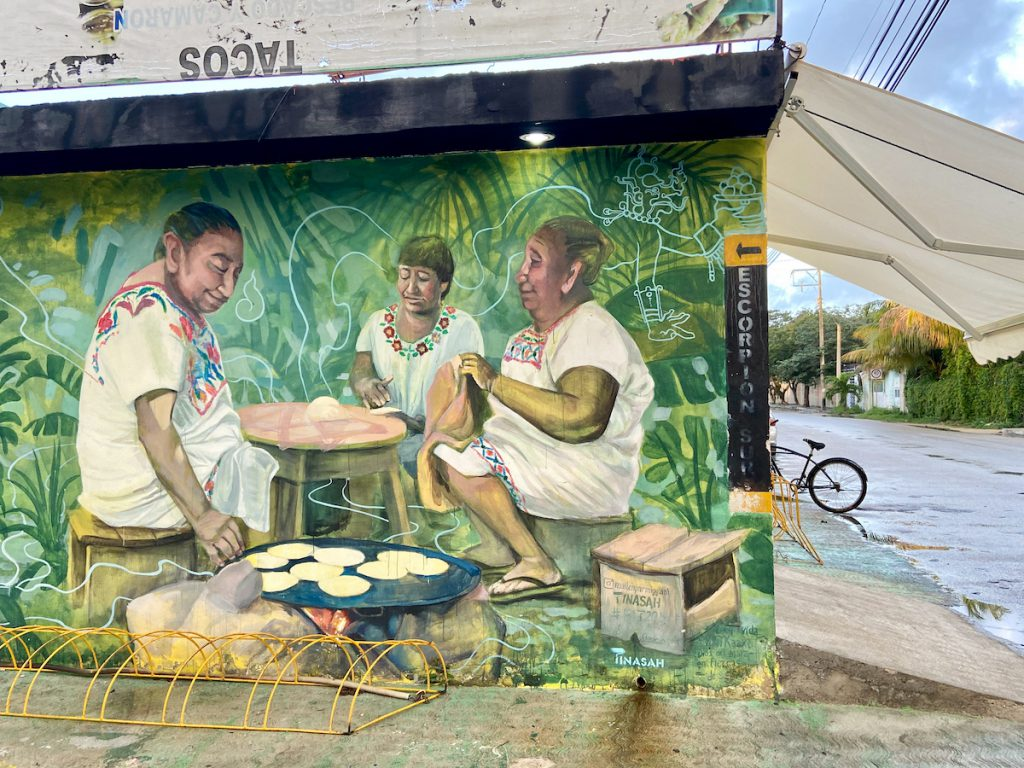 Tulum, in den Seitenstrassen findet sich viel Street Art