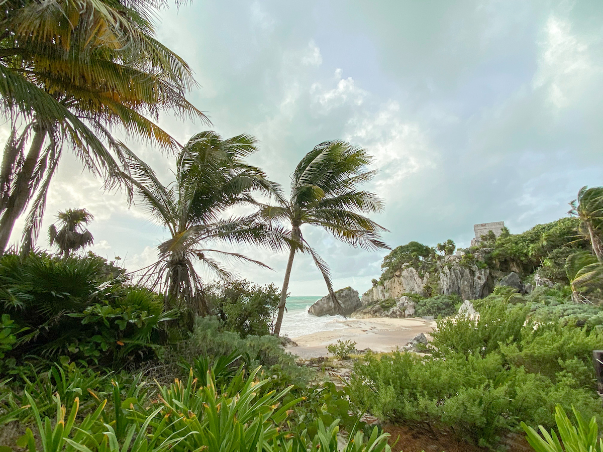 Tulum, kleiner Strand und Temple of the God of Winds