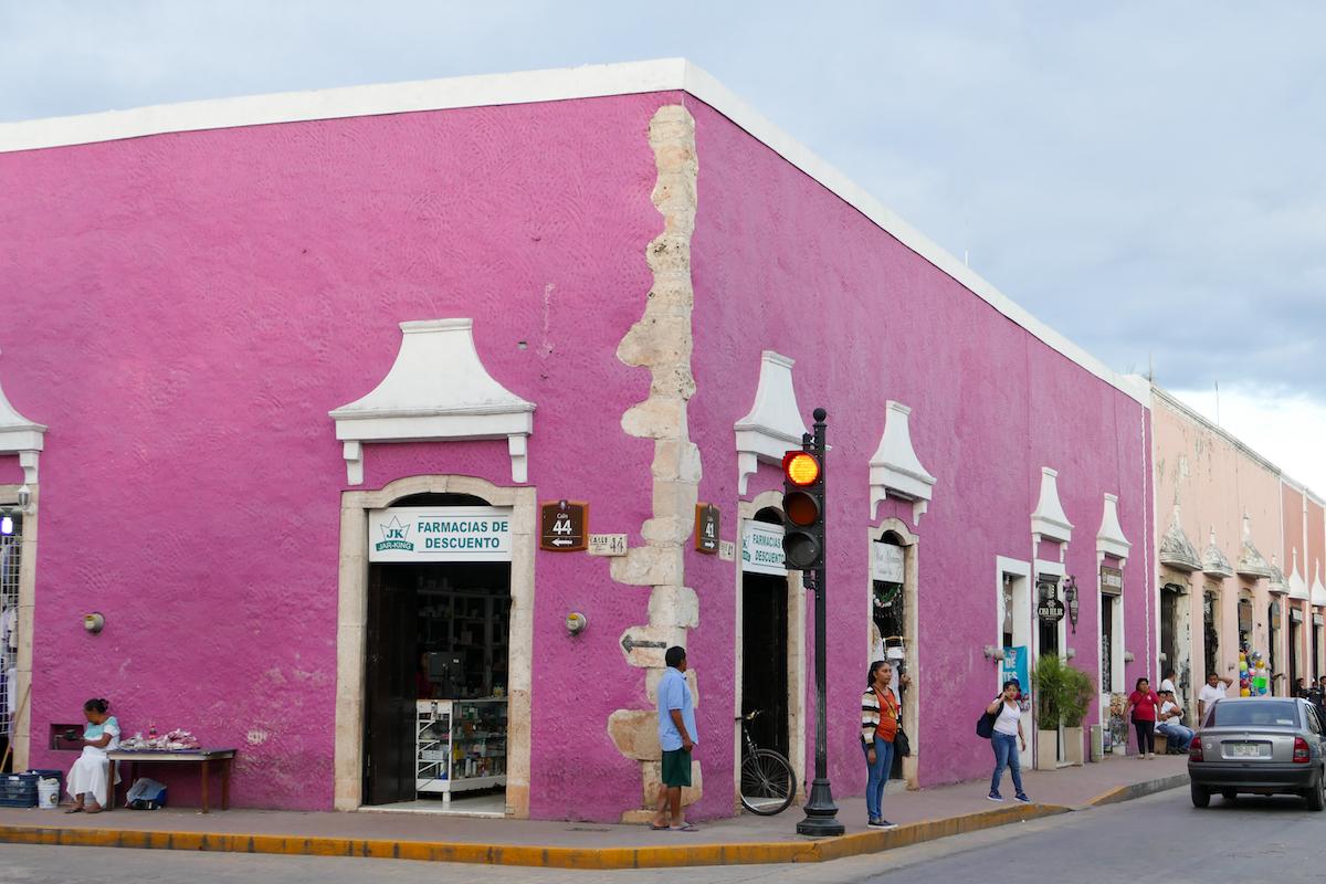 Typisch Yukatan, durchnummerierte Strassen